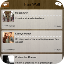 Fan Wall Mobile Application Feature
