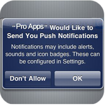 Mobile Application Push Notifications System