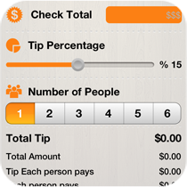 Restaurants ROS Apps Tip Calculator Feature